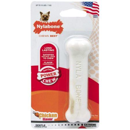 Nylabone Dura Chew Smooth White Dog Bone - Chicken Flavor
