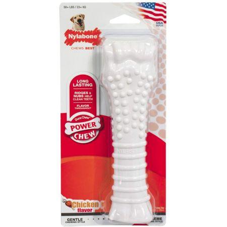 Nylabone Dura Chew Smooth White Dog Bone - Chicken Flavor alternate view 5
