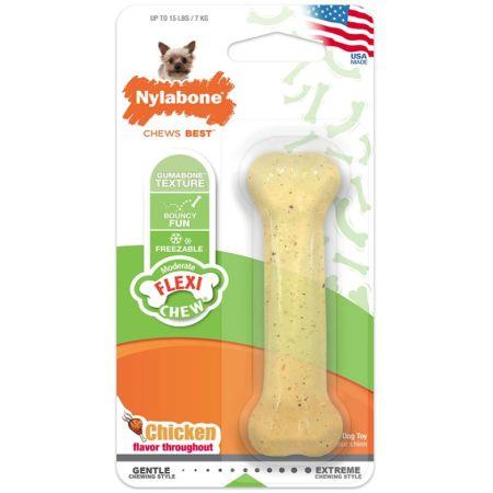 Nylabone Nylabone Flexi Chew Dog Bone - Chicken Flavor
