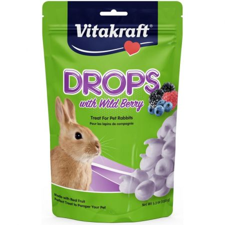 Vitakraft Drops with Wild Berry for Pet Rabbits