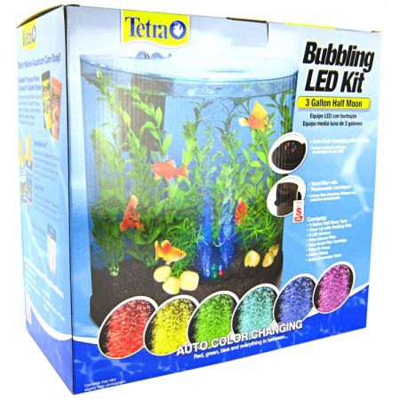 Tetra Tetra Half Moon Bubbling LED Aquarium Kit