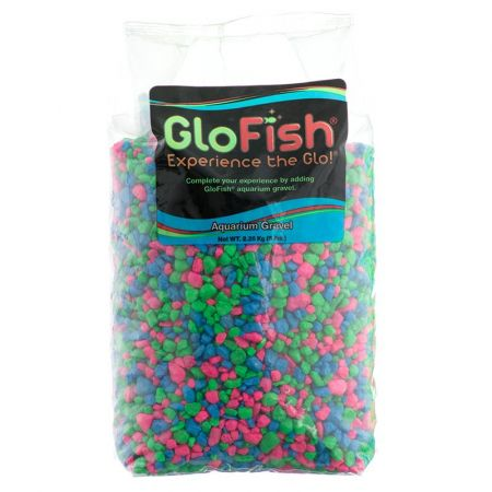 GloFish Aquarium Gravel - Pink, Green & Blue Mix