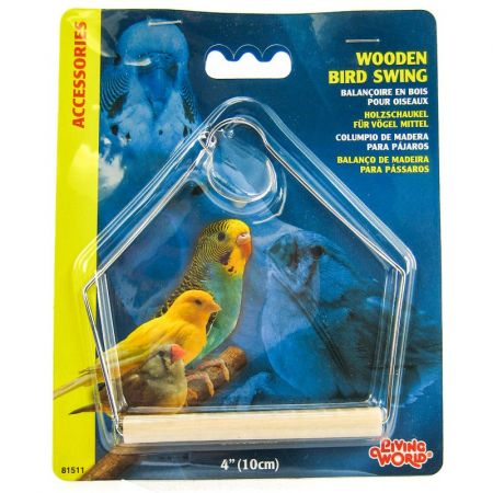 Living World Wood Perch Bird Swings alternate view 2