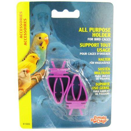 Living World Living World All Purpose Holder for Bird Cages - Plastic