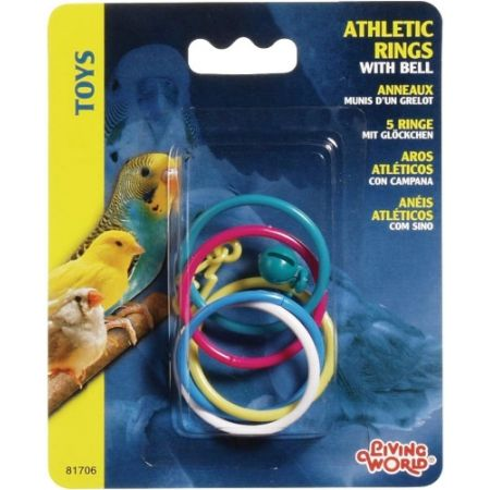 Living World Living World Athletic Rings with Bell Bird Toy
