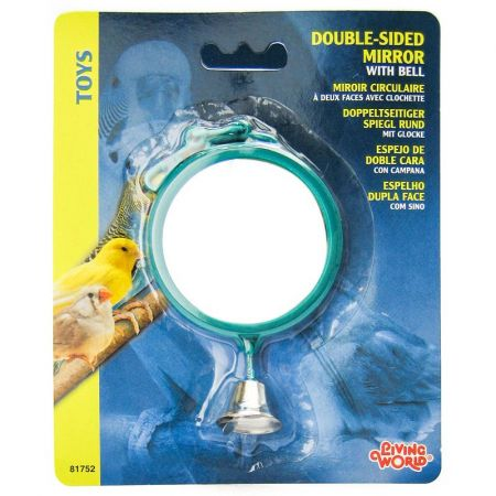 Living World Living World Double Sided Mirror with Bell Bird Toy