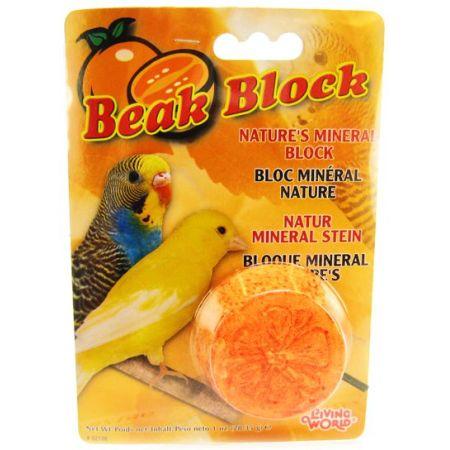 Living World Beak Block - Nature's Minerals - Orange