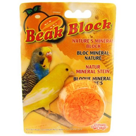 Living World Living World Beak Block - Nature's Minerals - Orange