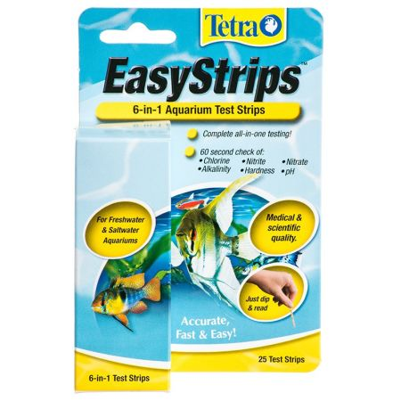 Tetra Tetra EasyStrips 6 in 1 Ammonia Aquarium Test Strips