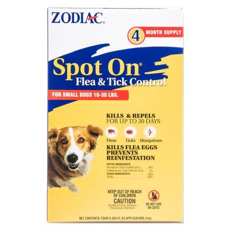 Zodiac Spot on Flea & Tick Controller for Dogs