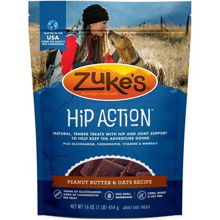 Zukes Zukes Hip Action Dog Treats - Peanut Butter & Oats Recipe