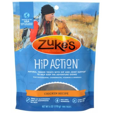 Zukes Zukes Hip Action Hip & Joint Supplement Dog Treat - Roasted Chicken Recipe