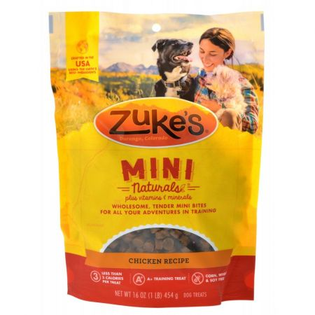 Zukes Zukes Mini Naturals Dog Treat - Roasted Chicken Recipe