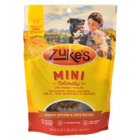 Zukes Zukes Mini Naturals Dog Treats - Peanut Butter & Oats Recipe