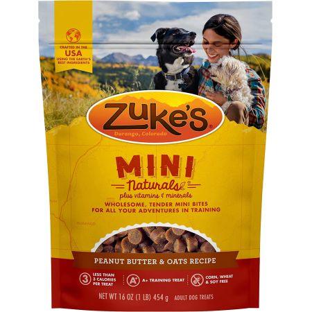 Zukes Zukes Mini Naturals Dog Treats - Peanut Butter & Oats Recipe