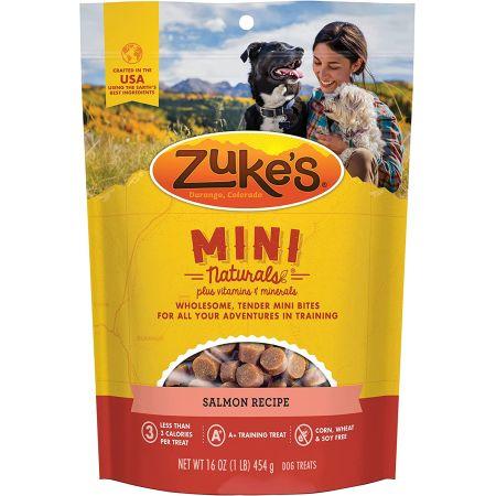 Zukes Zukes Mini Naturals Dog Treat - Savory Salmon Recipe