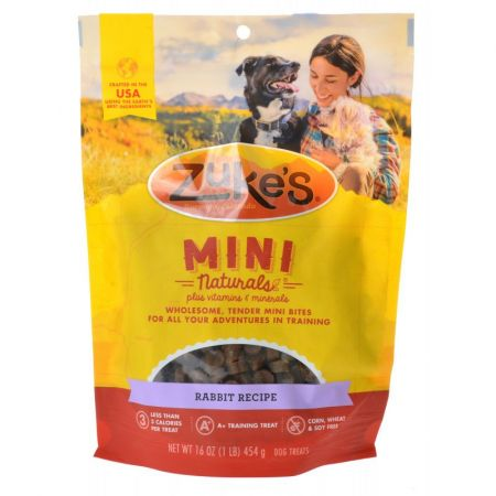 Zukes Zukes Mini Naturals Dog Treat - Wild Rabbit Recipe