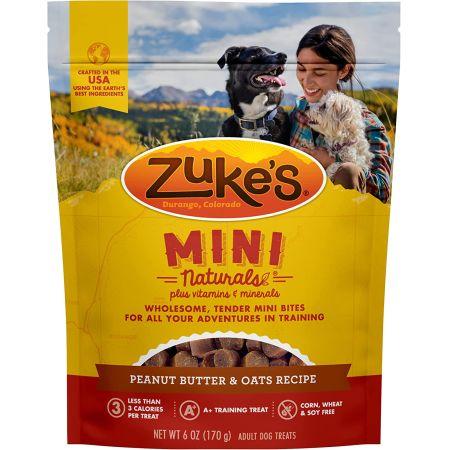 Zukes Mini Naturals Dog Treats - Peanut Butter & Oats Recipe alternate view 1