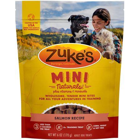 Zukes Mini Naturals Dog Treat - Savory Salmon Recipe