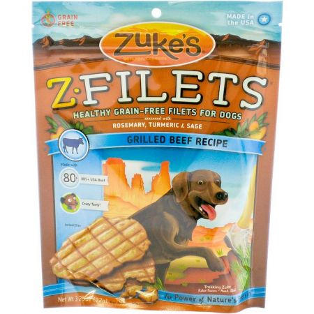 Zukes Zukes Z-Filets Dog Treat - Grilled Beef Recipe