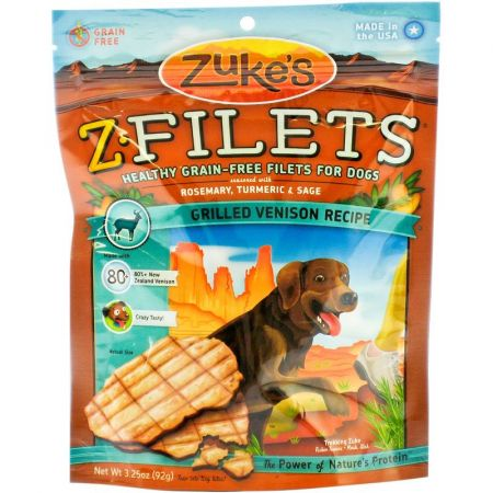 Zukes Zukes Z-Filets Dog Treat - Grilled Venison Recipe