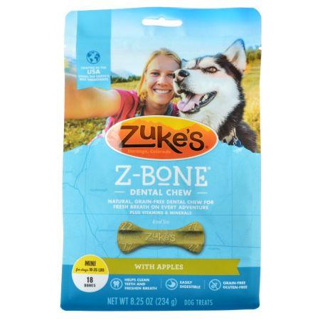 Zukes Zukes Z-Bones Dental Chews - Clean Apple Crisp