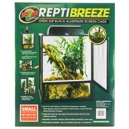 Zoo Med Zoo Med Reptibreeze Open Air Aluminum Screen Cage - Black