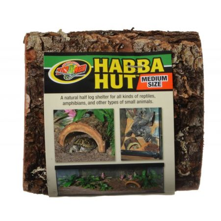 Zoo Med Habba Hut Natural Half Log with Bark Shelter alternate view 2
