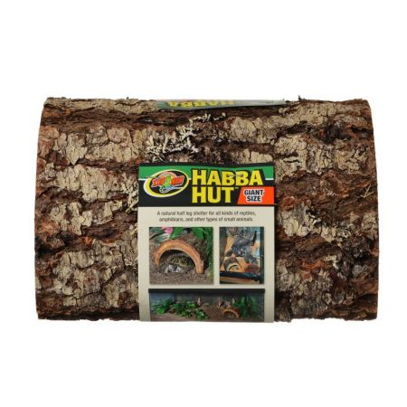 Zoo Med Habba Hut Natural Half Log with Bark Shelter alternate view 5
