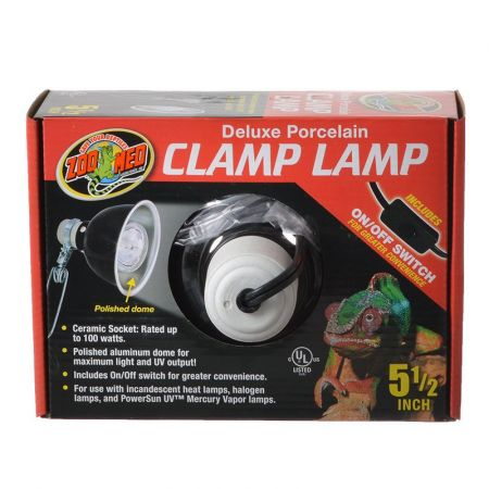 Zoo Med Zoo Med Delux Porcelain Clamp Lamp - Black