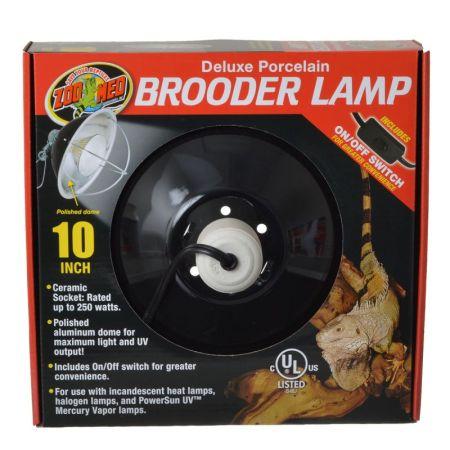 Zoo Med Zoo Med Delux Porcelain Brooder Lamp - Black