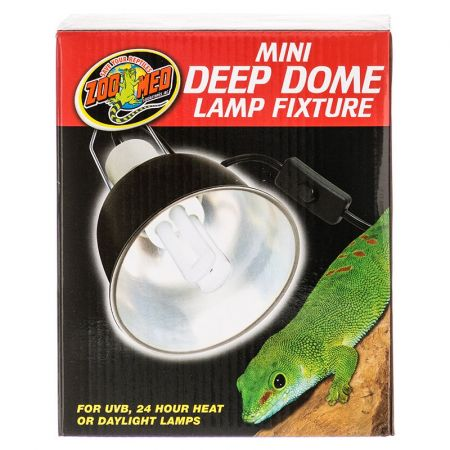 Zoo Med Zoo Med Mini Deep Dome Lamp Fixture - Black