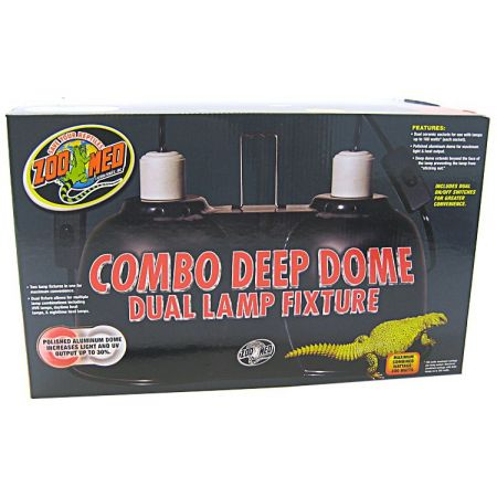 Zoo Med Zoo Med Combo Deep Dome Dual Lamp Fixture