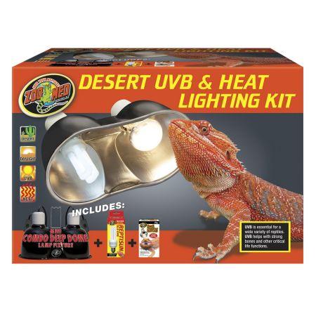 Zoo Med Zoo Med Desert Uvb Amp Heat Lighting Kit Lighting