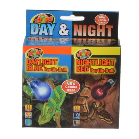 Zoo Med Zoo Med Day & Night Reptile Bulbs Combo Pack