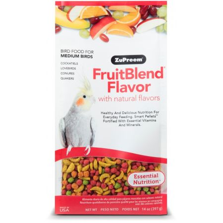 ZuPreem ZuPreem Fruit Blend Flavor Bird Food - Cockatiel