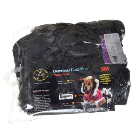 Pet Life Pet Life Black Dog Parka with Removable Hood