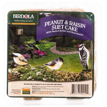 Birdola Birdola Peanut & Raisin Suet Cake