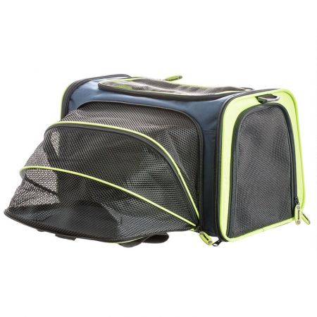 Petmate See & Extend Carrier - Navy Blue & Green