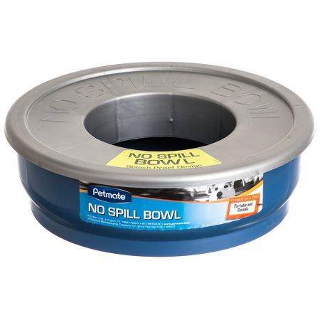 Petmate Petmate No-Spill Travel Bowl - Blue