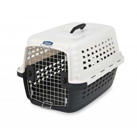 Petmate Compass Kennel - Black & Metalic White alternate view 1