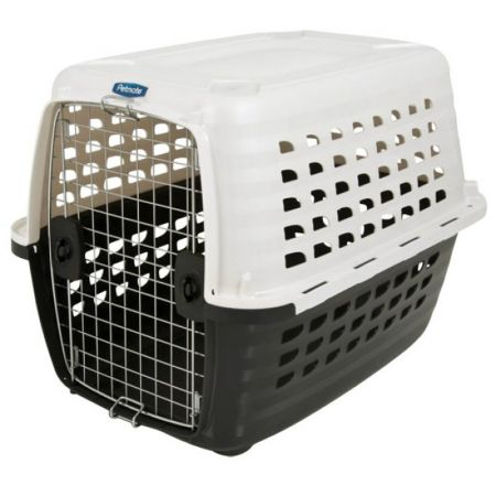 Petmate Compass Kennel - Black & Metalic White alternate view 2