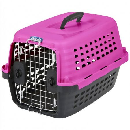 Petmate Compass Kennel - Black & Hot Pink