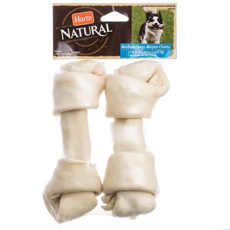Hartz Hartz Natural Rawhide Bone - White