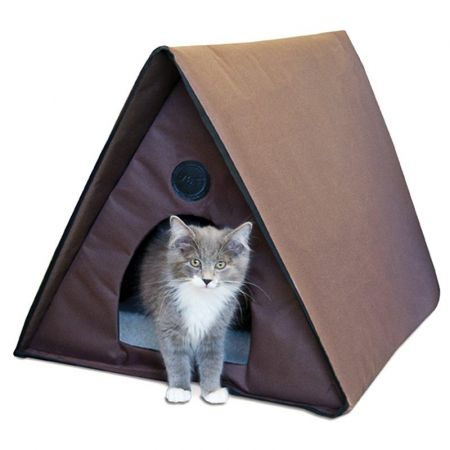 K&H Pet Products K & H Outdoor Heated A-Frame Cat House - Multi-Cat