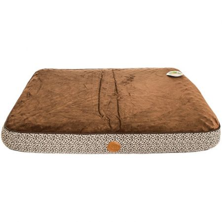 K & H Superior Orthopedic Bed - Mocha with Paw & Bone Print alternate view 1