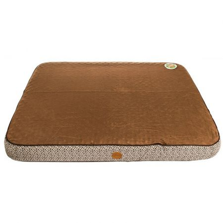 K & H Superior Orthopedic Bed - Mocha with Paw & Bone Print alternate view 2