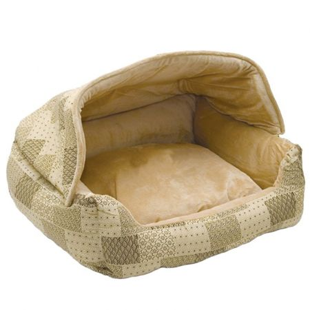 K&H Pet Products K & H Hooded Lounge Sleeper - Tan