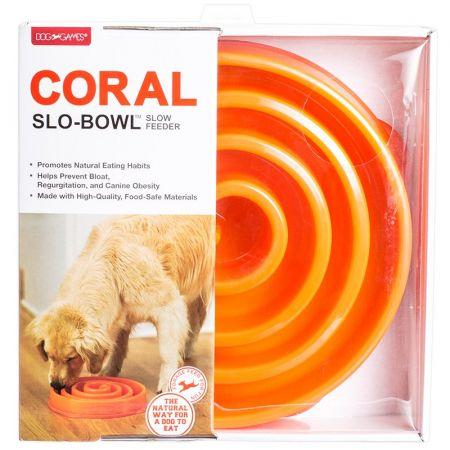 Dog Games Dog Games Coral Slo-Bowl - Orange & Gray