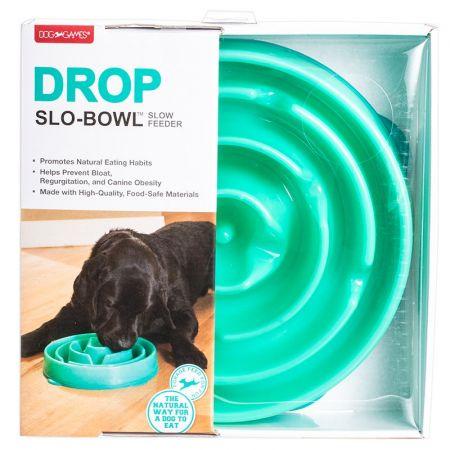 Dog Games Dog Games Drop Slo-Bowl - Teal & Gray